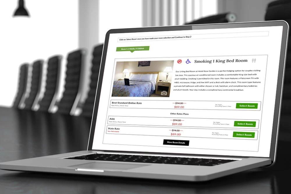 ADA Compliant Internet Booking Engine