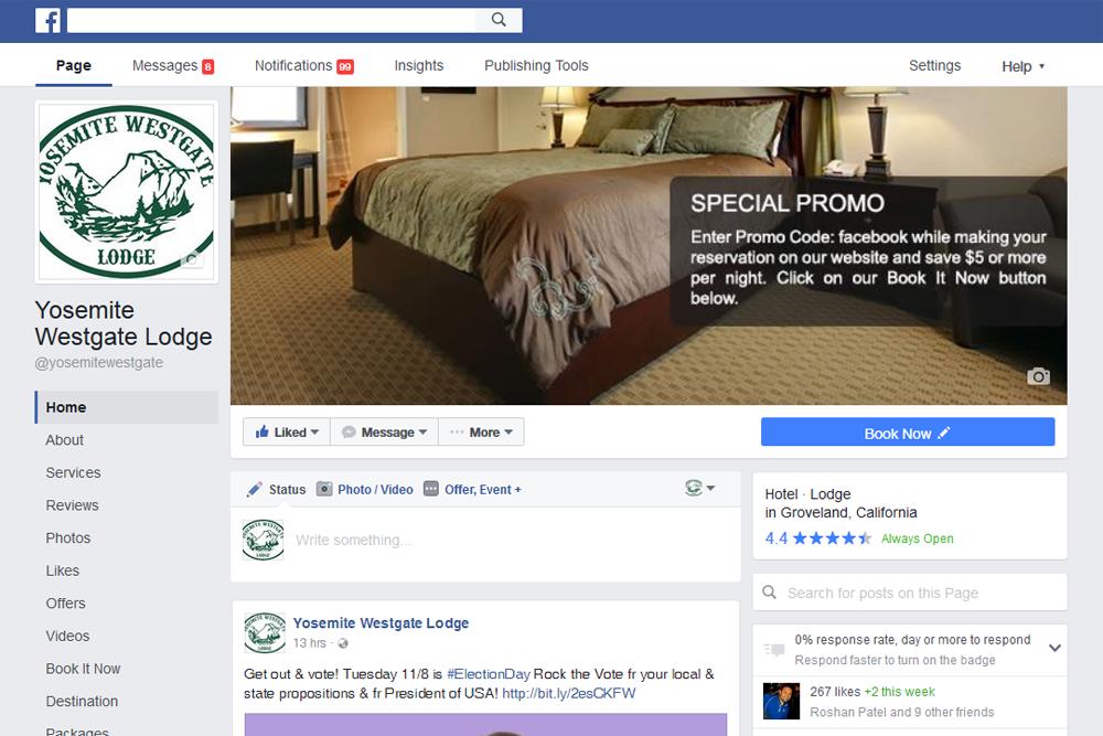 Facebook marketing for hotels