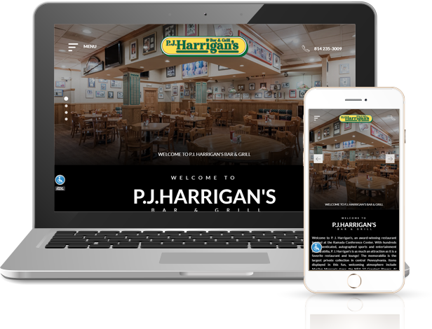 P J Harrigan's Bar & Grill Website Powered by INNsight
