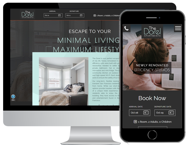 Professional Web Design and Creative Digital Marketing for Vacation Rental or Apartment