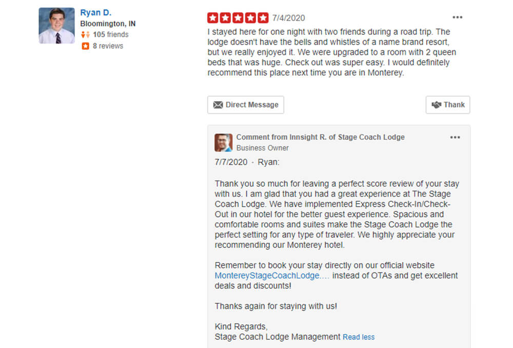 Yelp Review & Reply